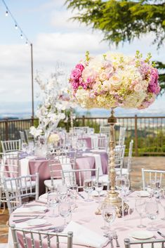 Our Lamour Purple Haze linens look dreamy at the Mountain Winery in Saratoga.