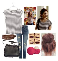 """Clary Fray tmi inspired outfit"" by bella-haverland ❤ liked on Polyvore featuring J Brand, Madewell, Furla, Eos and Uniqlo"
