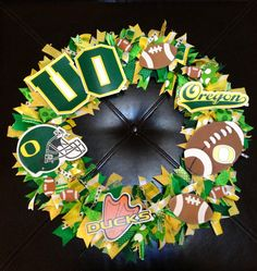 Oregon Duck Football Wreath on Etsy, $65.00