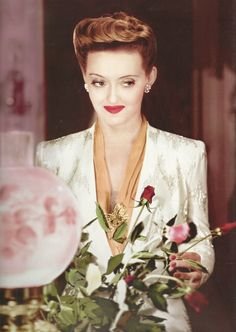 Bette Davis in Now Voyager - I've always loved this hairstyle