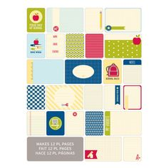 Project Life Themed Cards 60 Pack - School   Hobbycraft #projectlife #scrapbooking #makingmemories #hobbycraft #papercraft