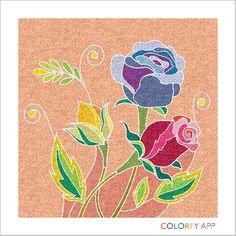 floral coloring art