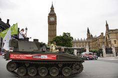 """""""Laura: Tank Commander"""" - our campaigner travelled round London in a tank yesterday - find out why: http://www.oxfam.org.uk/scotland/blog/2012/06/laura-tank-commander"""