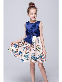 7fa4924ffb4 Sweet Blue Printing Knot Flower Girl Dresses(FG27) - Flower Girl Dresses -  SPECIAL OCCASION DRESSES