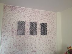 Wall decor made by chart-paper instead of toilet roll. Wall textured using old kitchen towel