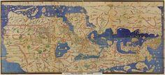 "World map drawn in 1154 by Muhammad al-Idrisi — ""Tabula Rogeriana"""