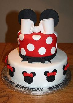 Minnie Mouse Birthday Cake. For miss Sarah's birthday :)
