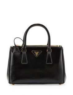 PRADA Saffiano Double Zip Mini Crossbody Bag