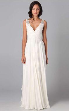 3434e986bb1f Abiti da cerimonia economici - Abito bianco lungo stile impero. Federica  Vanacore · vestito · Sia lunghi ...