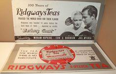 2 x Ridgways Teas Vintage Cardboard Advertising Sign 21  x 11  Barbary Coast