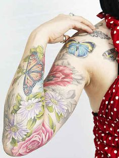 Flower sleeve.