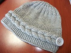 Knitting tutorial on braid Knitting Stitches, Baby Knitting, Crochet Baby, Knit Crochet, Headbands For Women, Hats For Women, Lidia Crochet Tricot, Crochet Prayer Shawls, Diy Headband