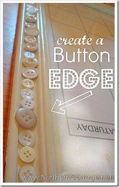 DIY Button Craft: DIY a vintage button CALENDAR
