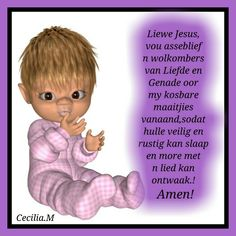 Goeie Nag, Afrikaans, Good Night, Fictional Characters, Nighty Night, Fantasy Characters, Good Night Wishes