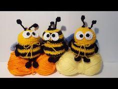 Ape Uncinetto - Amigurumi Tutorial -Crochet Bee - Abeja Croche Abelha - YouTube