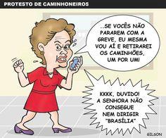 Greve dos caminhoneiros no Brasil!