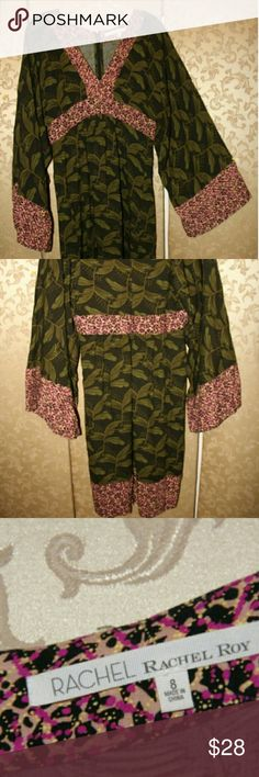 Rachel Roy floral kimono dress Super cute and soft. Lightweight fabric. Is it boho or kimono? Totally up to you! Ties in the back just under the bust. Flattering and comfortable. Rachel Roy Dresses
