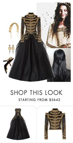 """Mary OOTD"" by misscreepyashell ❤ liked on Polyvore featuring Kane, Marchesa, Alexander McQueen, Eugenia Kim and Dolce&Gabbana"