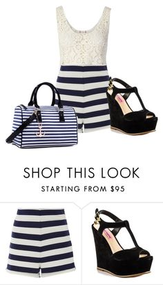 """""""Untitled #935"""" by maria-cmxiv on Polyvore featuring By eLUXE, MDS Stripes, Betsey Johnson and Dasein"""