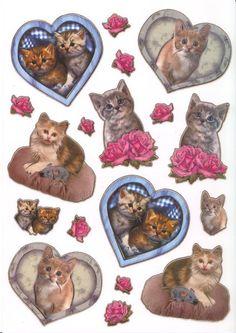Ultra Gloss Stickerbogen, A4, Süße Katzen 2