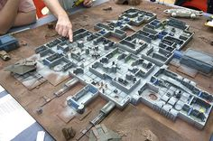 Hirst+Arts+Sci-Fi+Terrain   15mm SCI-FI Terrain Layout