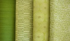 """Color - Green: """"Runway"""" Collection - Upholstery Fabrics Designed by Pattern Pod for Douglass Industries - Available for Sale!"""