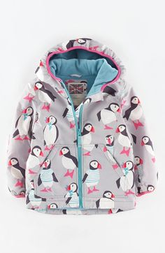 "Free shipping and returns on Mini Boden Fleece Lined Water Resistant Anorak (Toddler Girls, Little Girls & Big Girls) at Nordstrom.com. <p><B STYLE=""COLOR:#990000"">Pre-order this style today! Add to Shopping Bag to view approximate ship date. You'll be charged only when your item ships.</b></p><br>Brighten up chilly fall days in a rain-resistant, hooded anorak in her choice of fun, colorful prints. Cozy fleece lining adds warmth without bulk."