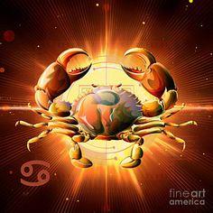 Scorpio Digital Art - Horoscope Signs-cancer by Bedros Awak