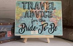 Travel themed bridal shower, adventure baby shower; travel themed; party favor prop; traveling from miss to mrs decor by lakecountrycottage on Etsy https://www.etsy.com/listing/517168599/travel-themed-bridal-shower-adventure