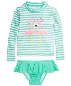 Carter's Baby Girls' 2-Piece Flamingo Swimsuit | macys.com