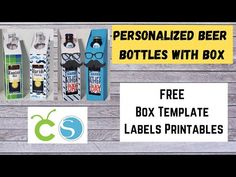 (2121) Cervezas Personalizadas con Caja - YouTube Printable Labels, Printables, Free Boxes, Beer Bottle, Youtube, Silhouette, Templates, Day, Crates
