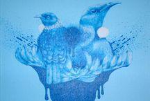 Jermaine Reihana Acrylic on canvas 2010 Bird Calls, Maori Art, Bird Art, Medium Art, Art Inspo, Canvas, Painting, Animals, Image