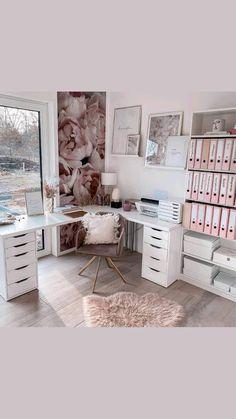 Cozy Home Office, Home Office Design, Home Office Decor, Workplace Design, Room Design Bedroom, Room Ideas Bedroom, Diy Bedroom Decor, Ikea Room Ideas, Workspace Inspiration