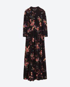 Image 8 of LONG PRINTED DRESS from Zara