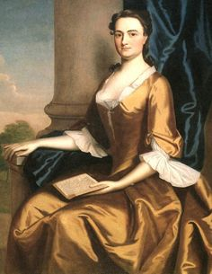 1748 Robert Feke (American colonial era artist, 1707-1751). Grizzell Eastwick (Mrs. Charles Apthorp).