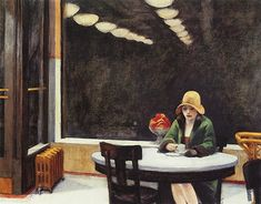 Edward Hopper my favorite!Edward Hopper (July 1882 – May was a prominent American realist painter and printmaker. Edouard Hopper, Edward Hopper Paintings, Modern Art, Contemporary Art, Blog Art, Funny Illustration, Expo, Nocturne, American Art