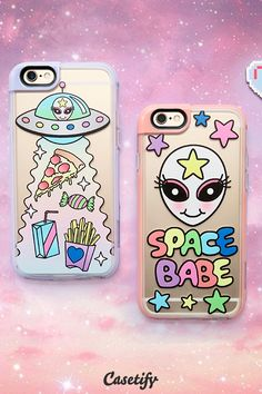 Click through to shop these quirky #pastel iPhone 6 phone cases by @jadeboylan >>> https://www.casetify.com/artworks/xg1G56zkBN #phonecase #protective #space | @casetify