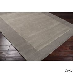 Hand Loomed Odele Solid Bordered Tone-On-Tone Wool Area Rug (8' x 11') | Overstock.com Shopping - Great Deals on 7x9 - 10x14 Rugs