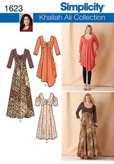 S1623 Misses' Knit Dress | Plus Size