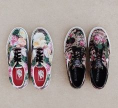 floral canvas sneakers #SS14  www.blueisinfashionthisyear.com