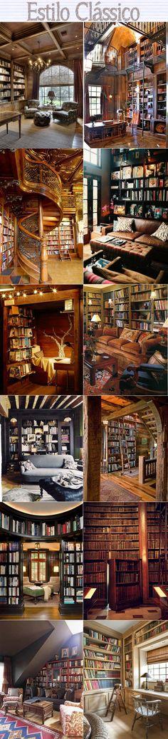 slide bibliotecas clássicas