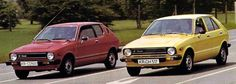 http://chicerman.com  carsthatnevermadeit:  Daihatsu Charade G10 series 1977. These days 3-cylinder engines are relatively common in Europe and Asia at least but in the 70s they were extremely rare. The G10 Charade was one of the first cars to use a 4-stroke 3 cylinder water-cooled engine in mass production. Note the coupe version had a cute port-hole in the c-pillar  #cars
