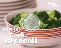 Cook perfectly-tender broccoli florets with the help of BHG! Learn how here: http://www.bhg.com/videos/m/65125669/how-to-cook-broccoli.htm?socsrc=bhgpin111512videocookbroccoli