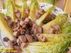 Mi Cocina: ENSALADA TEMPLADA DE COGOLLOS CON ATUN FRESCO