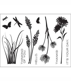 """Wildflowers - Technique Tuesday Clear Stamps 3""""X4"""" at Joann.com"""