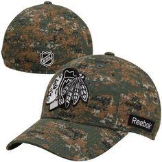 Reebok Chicago Blackhawks Structured Flex Hat - Digital Camo