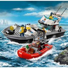 60129 le bateau de patrouille de la police - Lego City Bateau