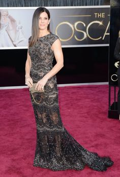Sandra Bullock at the 2013 Oscars (beautiful gown)