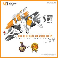 Time To Sit Back And Watch The #IPL. Enjoy your #Weekend !  #HappyWeekend #IPL10 #GLvsKKR #ItsFriday