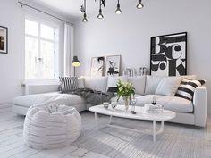 White Scandinavian home (3D) by Sachin Mahajan Follow Gravity Home: Blog…